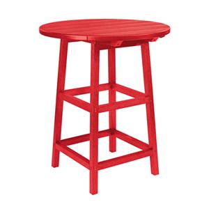 "C.R. Plastic Products Adirondack - Red 32"" Pub Table"