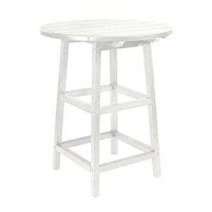 "C.R. Plastic Products Adirondack - White 32"" Pub Table"