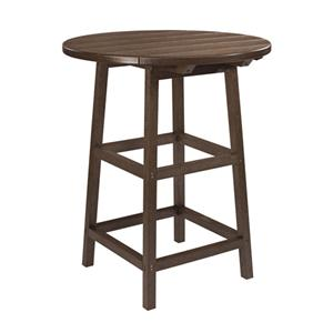 "C.R. Plastic Products Adirondack - Chocolate 32"" Pub Table"