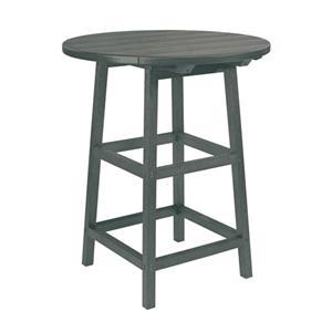 """C.R. Plastic Products Adirondack - Slate 32"""" Pub Table"""