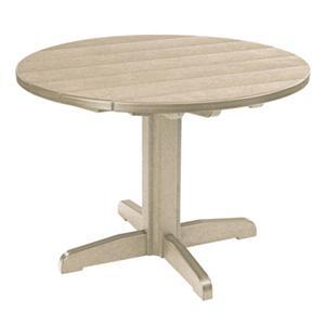 C.R. Plastic Products Adirondack - Beige Dining Pedestal