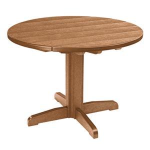 C.R. Plastic Products Adirondack - Cedar Dining Pedestal