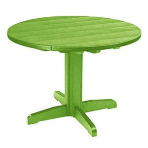 C.R. Plastic Products Adirondack - Kiwi Dining Pedestal