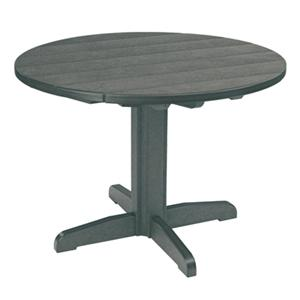 C.R. Plastic Products Adirondack - Slate Dining Pedestal
