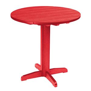 C.R. Plastic Products Adirondack - Red Pub Pedestal