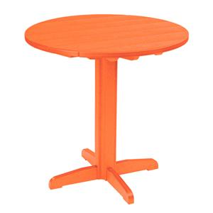 C.R. Plastic Products Adirondack - Orange Pub Pedestal