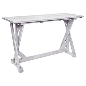 "C.R. Plastic Products Harvest 72"" Rectangular Bar Table"