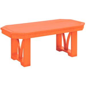 C.R. Plastic Products St Tropez Rectangular Cocktail Table
