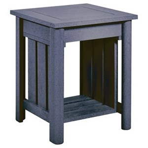 "C.R. Plastic Products Stratford DS 19"" Outdoor End Table"