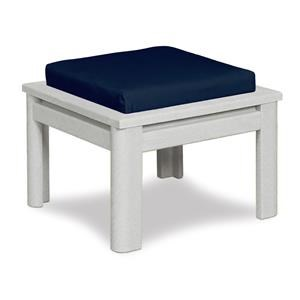 C.R. Plastic Products Stratford - White Outdoor/Patio Ottoman