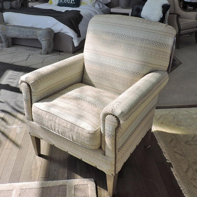 Camelback Accent Chair with Two Patterns of