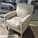 Craftmaster 042410 Camelback Accent Chair with Two Patterns of  - Item Number: 777987661