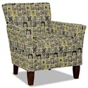 Craftmaster 060110 Accent Chair - Item Number: 060110-SQUARETOP-15