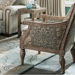 Upholstered Exposed Wood Frame Chair