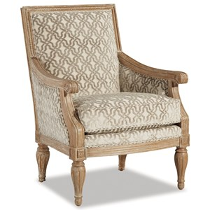 Craftmaster 063810 Upholstered Exposed Wood Frame Chair