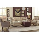 Hickorycraft 066510 Accent Chair with Tufted Back