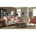 Craftmaster 080610 Traditional Barrel Back Accent Chair