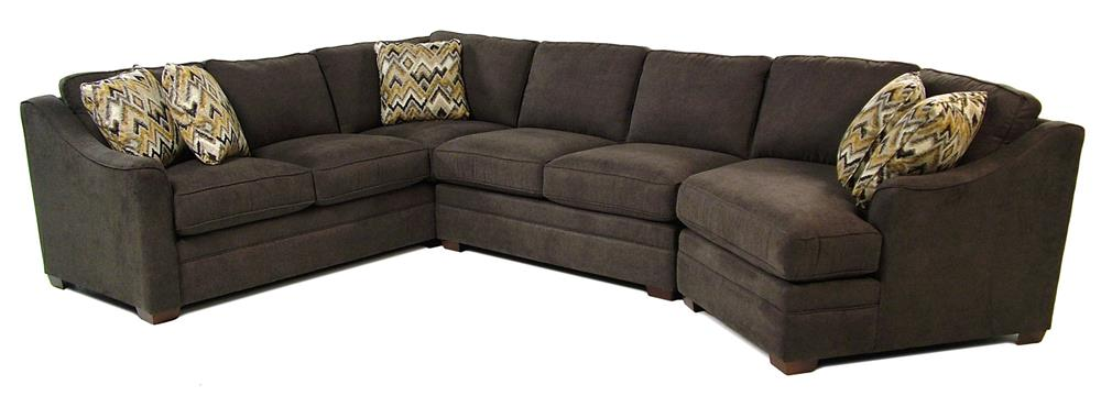Cozy Life F9 Custom Collection Dancer 3-Piece Sectional w/ RAF Cuddler - Item Number: F943156+21+33-CY41