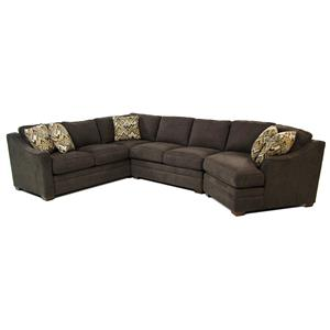 Cozy Life F9 Custom Collection Dancer 3-Piece Sectional w/ RAF Cuddler