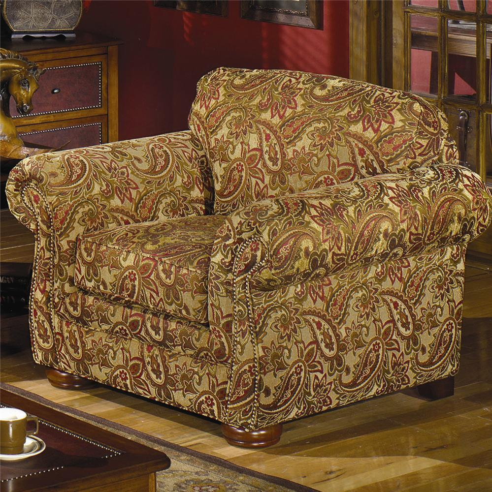 Craftmaster 2675 2676 Upholstered Chair With Rolled Arms
