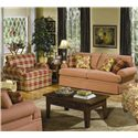 Craftmaster 4550 Sofa Sleeper - 4550-68 - Shown in Room Setting with Chair