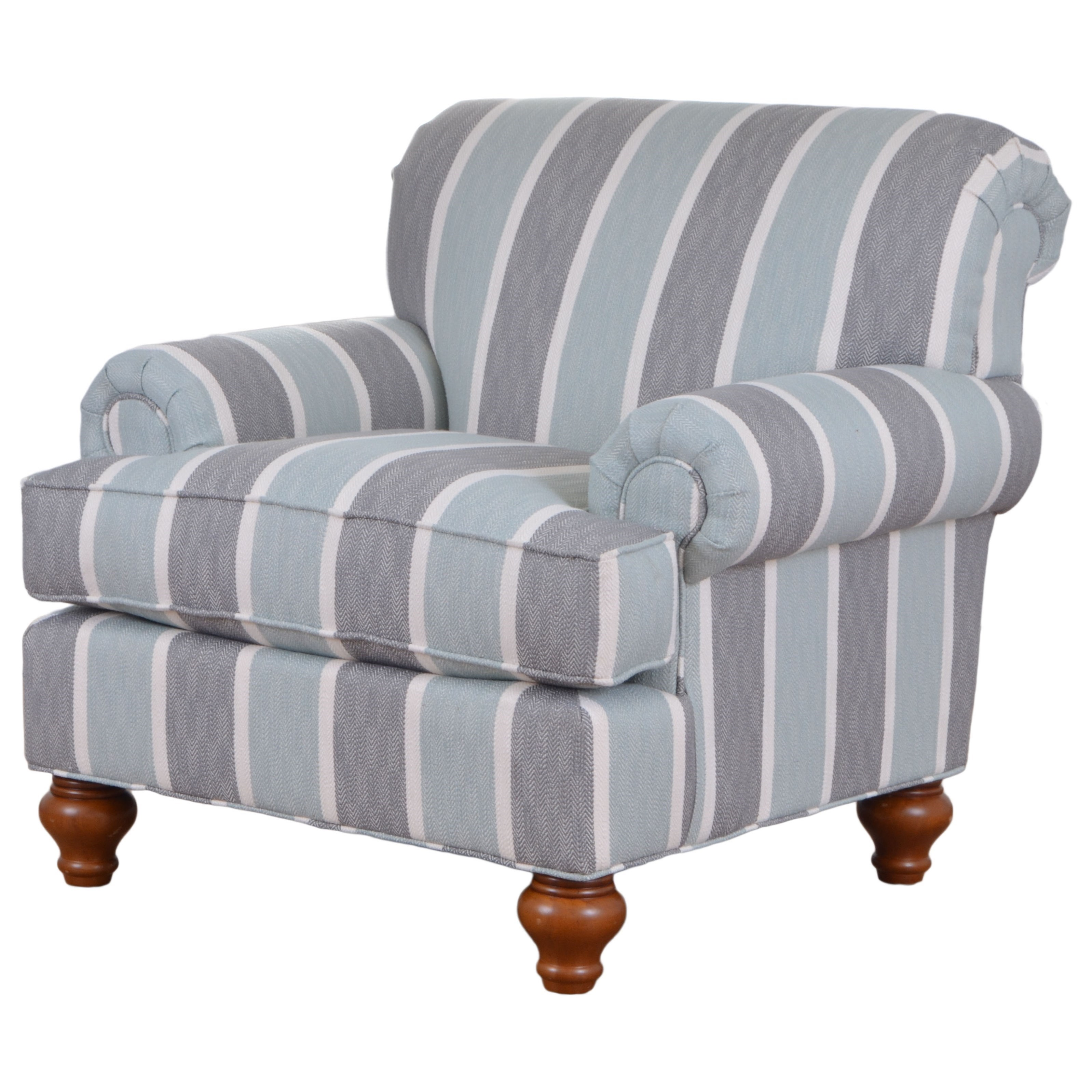 Hickorycraft 7047 Traditional Upholstered Chair With