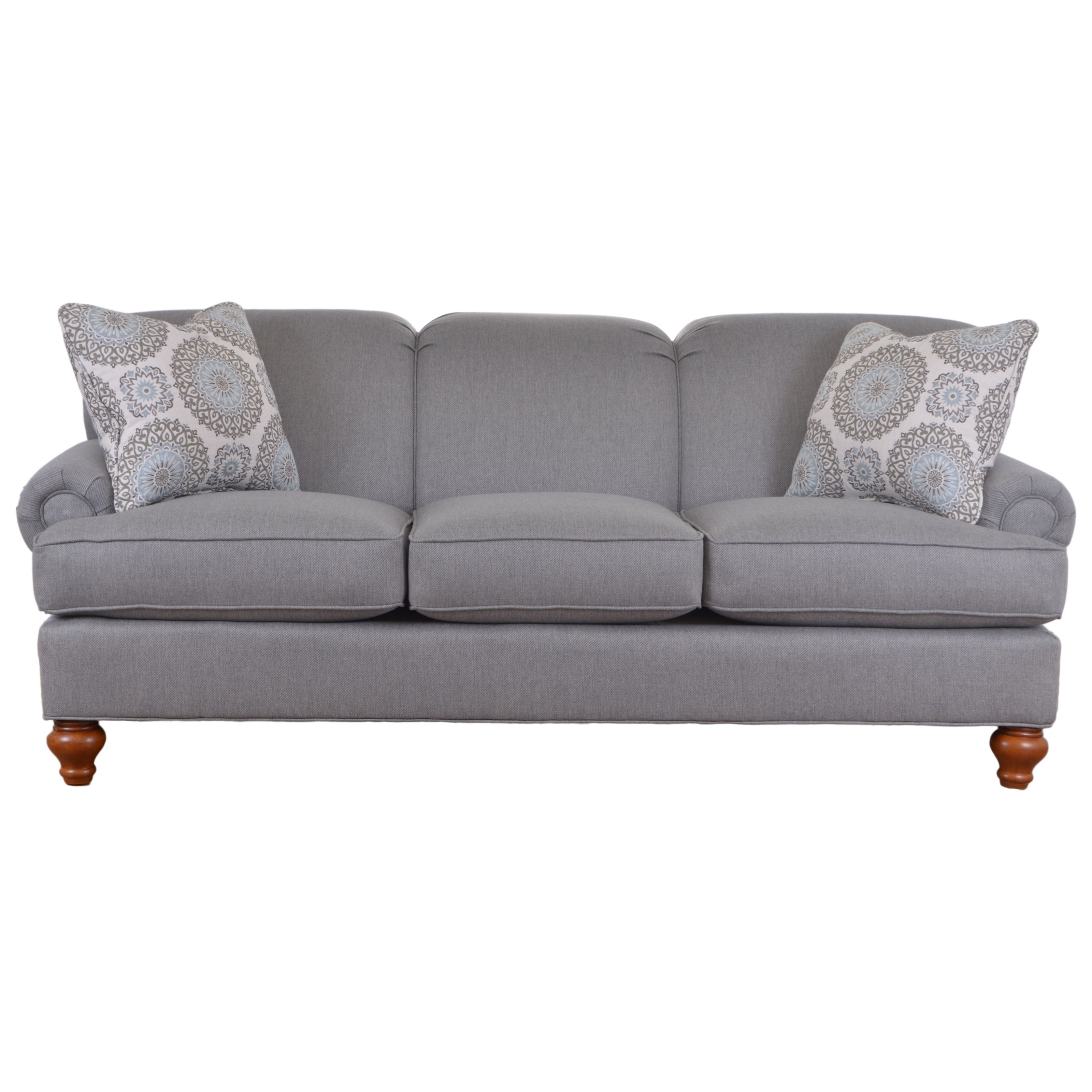Craftmaster 7047 Traditional Sofa With Turned Wood Legs Miskelly