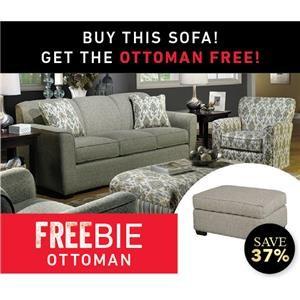 Betsy Sofa and Freebie Ottoman
