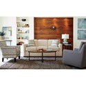 Craftmaster 7255 Contemporary Sleeper Sofa with Flared Track Arms and Memory Foam Mattress