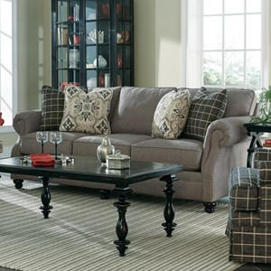 Cozy Life 7266 Transitional Stationary Sofa