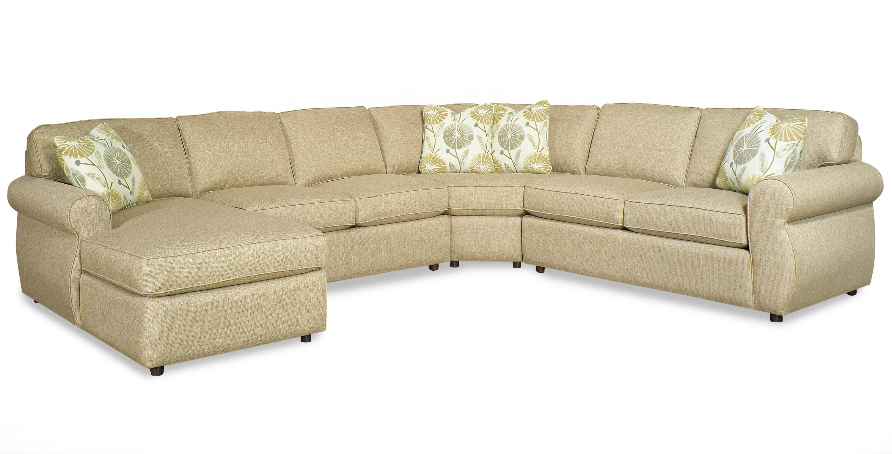 Craftmaster Transitional Four Piece Sectional Sofa with