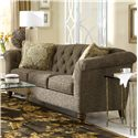 Craftmaster 7377 Button-Tufted Sofa with Flared and Pleated Arms - 737750-WALTZ-41