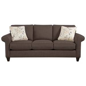 Craftmaster 7421 Transitional Sofa With Sock Rolled Arms