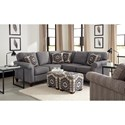 Craftmaster 742100 Transitional Two Piece Sectional Sofa with LAF Corner Sofa