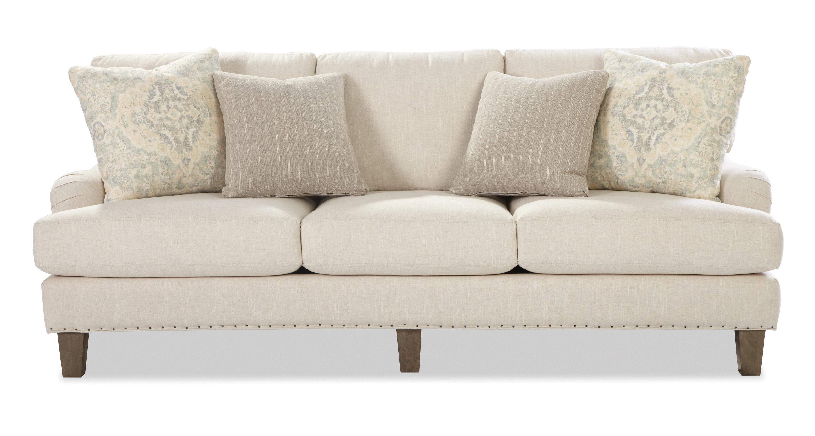 Craftmaster Ellie Transitional English Arm Sofa with Vintage Tack