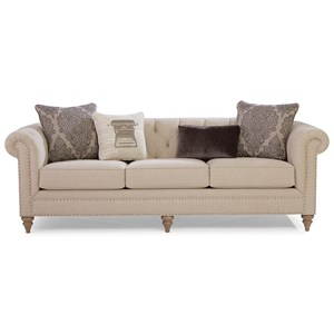 Large Sofa w/ Tack Nailheads