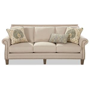 Craftmaster 747 Sofa with Brass Nailheads