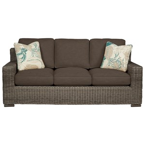 Cozy Life 750700 Wicker-Framed Sofa
