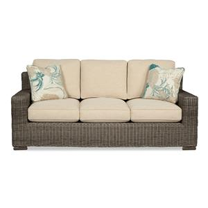 Craftmaster 750700 Wicker-Framed Sofa Sleeper w/ Air Dream Mat