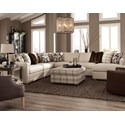Craftmaster 751100 5 Pc Sectional w/ RAF Chaise - Item Number: 751109+13+34+33+41-UPTOWN-10