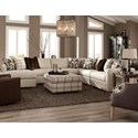 Craftmaster 751100 5 Pc Sectional w/ LAF Chaise - Item Number: 751142+13+34+33+08-UPTOWN-10