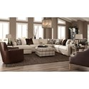 Craftmaster 751100 Five Piece Sectional with LAF Chaise