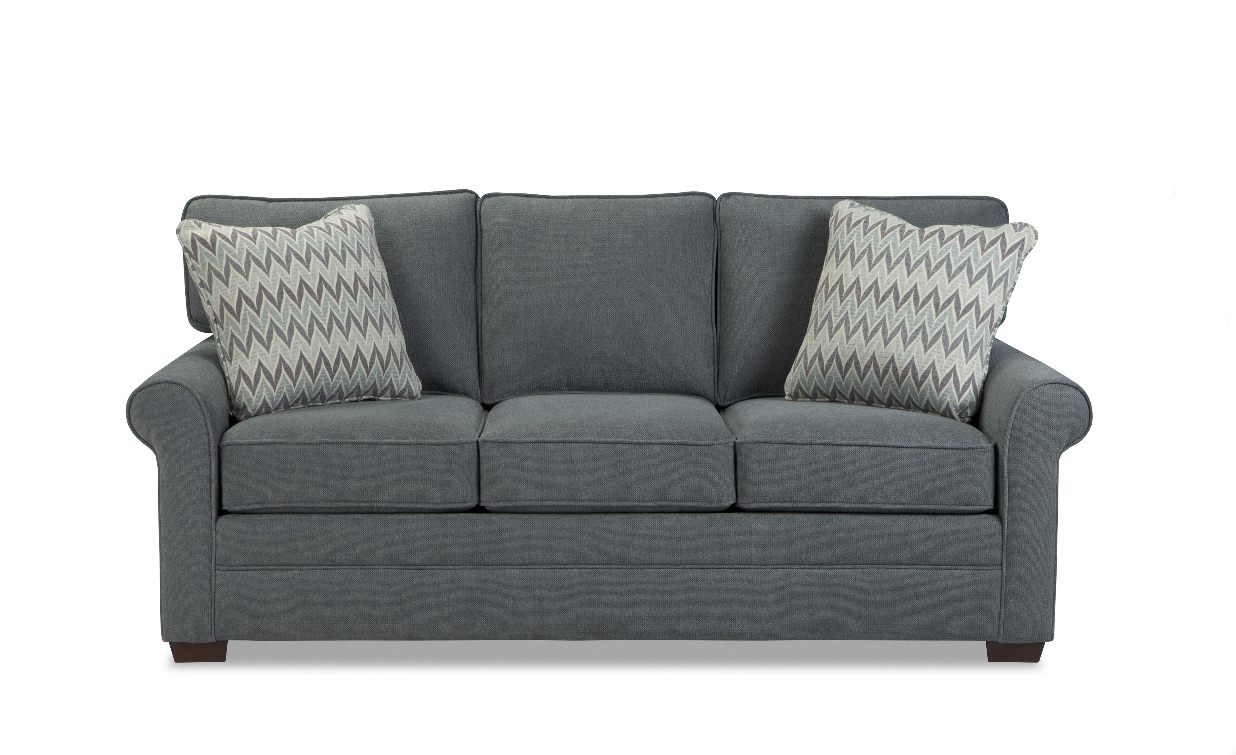 Craftmaster 7523 Transitional Sofa with Rolled Arms and Loose Back