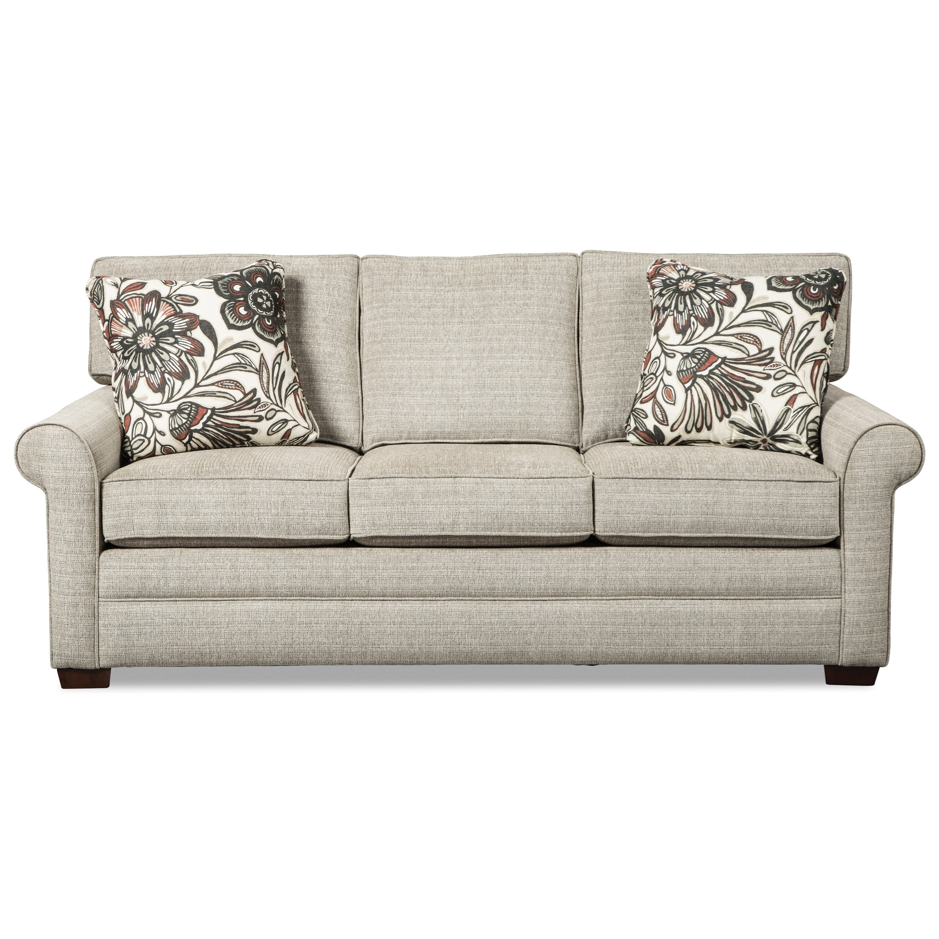 Loose Pillow Back Sofa: Craftmaster 7523 Transitional Sofa With Rolled Arms And