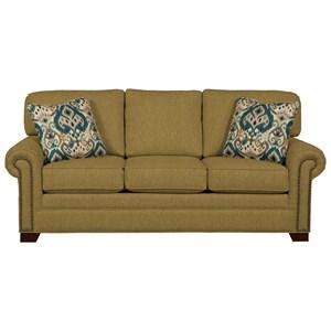 Queen Sleeper Sofa with Memory Foam Mattress