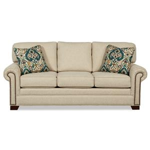 Queen Sleeper Sofa with Memory Foam Mattress