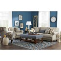 Craftmaster 762300 Traditional Sofa with Two Sizes of Brass Nailheads