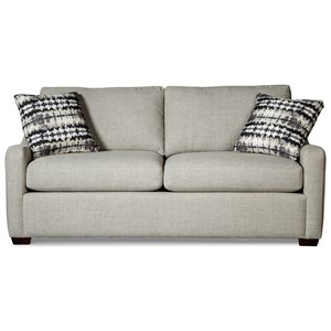 Hickorycraft 7643 Queen Sleeper Sofa with Memory Foam Mattress