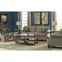 Cozy Life 766900 Rolled Arm Sofa with Traditional Turned Legs