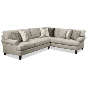 Craftmaster 767350-767450-767550-767650 2 Pc Sectional Sofa w/ RAF Corner Sofa